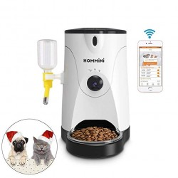 hommin HOMMINI Smart Feeder for Dog & Cat Controlled by Iphone, Andriod or Other Smart Devices