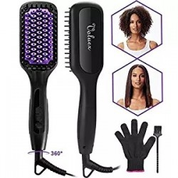 Ionic Hair Straightening Brush for Silky Frizz Free Hair