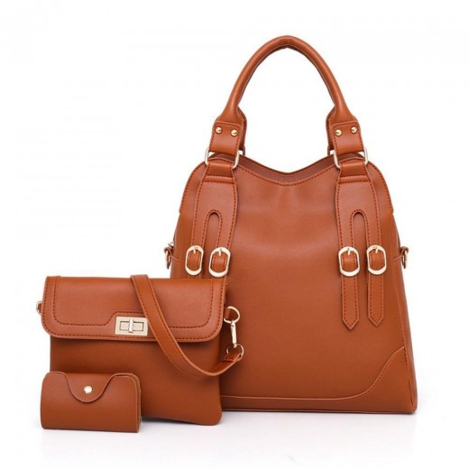 Fashion Toet Purse Satchel Bag PU Leather Women's Handbags
