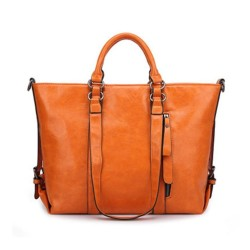 Tote PU Leather Handbags Women Messenger Shoulder Vintage Bags