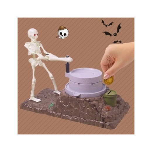Creative Grinding Skeleton Piggy Bank Money Can