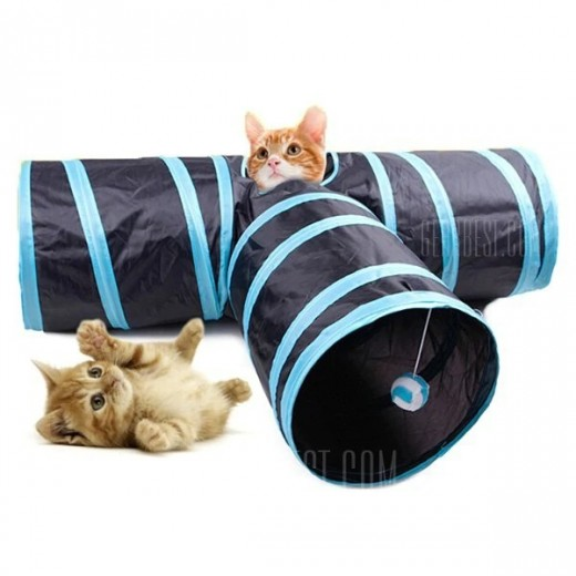 Collapsible Pet Tunnel 3-way Cat Maze Toys