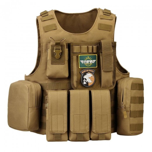 Protector Plus Z509 Tactical Vest With Multiple Removable Pockets Waterproof And Durable To Use