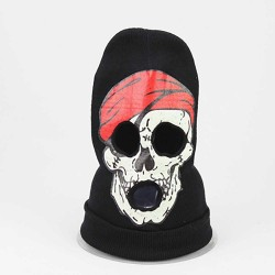 Halloween Horror Skull Strecth Knitted Head Cover Ghost Mask Cosplay Spoof Wool Hat
