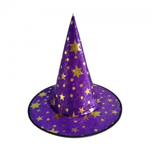 Disfraz de Sombrero de Fiesta de Halloween Sombrero de Sitch de Sombrero de Estrellas - Púrpura