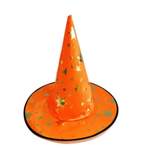 Halloween Hat Party Costume Stars Hat Sitch Cap - Orange