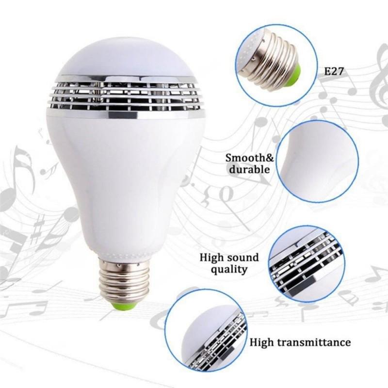 Bluetooth Speaker Led E27 Smart Bulb App Control