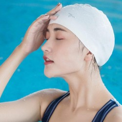 Xiaomi Yunmai 7th Professional Swim Cap Frosted Silicone Material High Elasticity - White