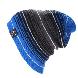 Multi-layered Striped Matching Wool Hat Autumn Winter Warm Ski Hat Knit Hat Hip Hop Hat