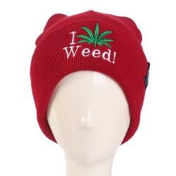 Unisex Fashion Autumn Winter Warm Hemp Leaf Pattern Cartoon Pattern Outdoor Ski Hat