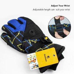 Warmest Waterproof and Breathable Outdood Gloves for Mens,Womens,Ladies and Kids Skiing,for Parent Child Outdoor