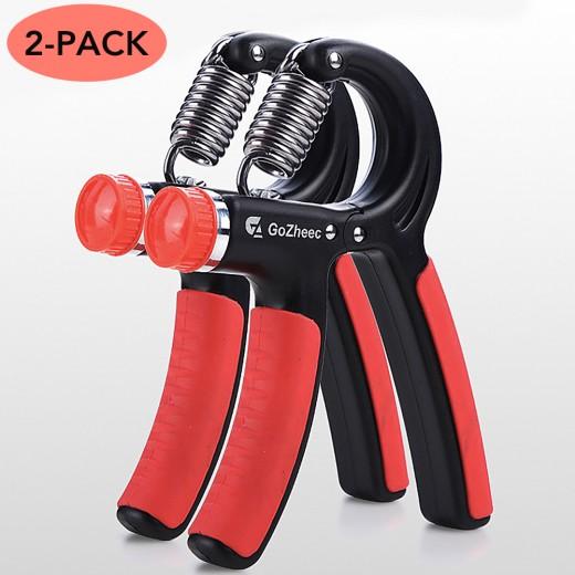 GoZheec Hand Grip Strengthener with Adjustable Resistance 11-132 Lbs (5-60kg)